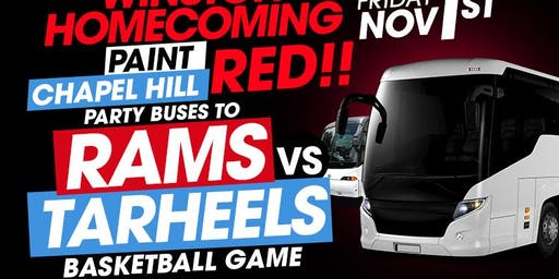"WSSU HOMECOMING ""RAMS PARTY BUSES"" TO UNC VS WSSU BASKETBALL GAME"