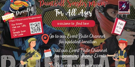 """""""Paintball Wargames Singles Get2gether"""": Find love in warzone tickets"""