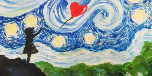 Paint Starry Night Balloon Girl! Manchester, Tuesday 17 September