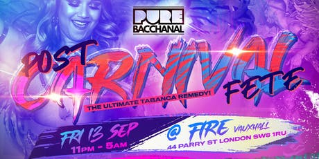 Pure Bacchanal - Post Carnival Fete tickets