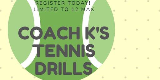 Women's Intermediate/Advanced Tennis Drills
