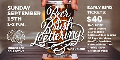 Beer and Brush Lettering Workshop