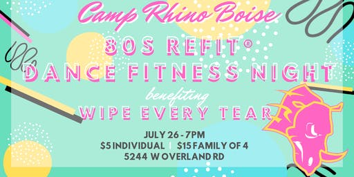 80s REFIT Dance Fitness Night for Wipe Every Tear