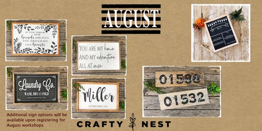 August 22nd Public Workshop at The Crafty Nest (Northborough)