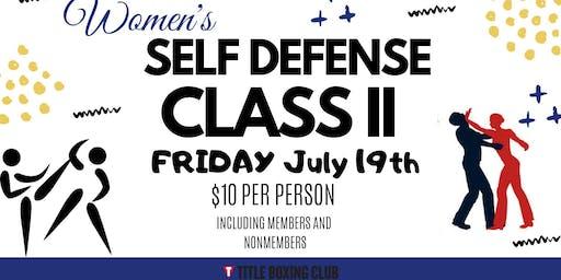 Women's Self Defense Class Part 2!