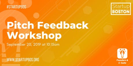Pitch Feedback Workshop tickets