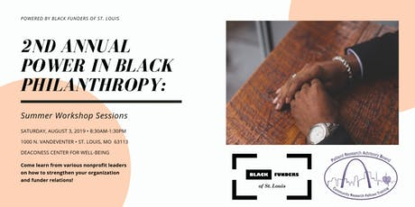 2nd Annual Power in Black Philanthropy: Summer Workshop Sessions tickets