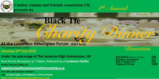 Calabar Alumni and Friends Association UK 4th Annual Black Tie Charity Dinner