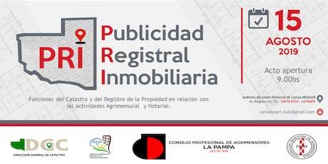 Jornada PRI - Publicidad Registral Inmobiliaria. entradas