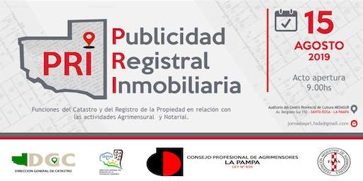 Jornada PRI - Publicidad Registral Inmobiliaria.