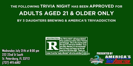3 Daughters Brewing Presents: Risqué Triva, 21 and up! tickets