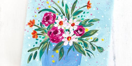 Floral Canvas Workshop with Bethany Joy Art