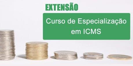 Curso de Especialização em ICMS e IPI ingressos