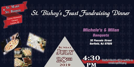 St. Bishoy's Feast Fundraising Dinner