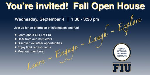 Open House - Osher Lifelong Learning Institute at FIU