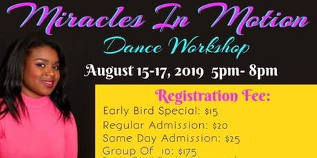 Miracles In Motion Dance Workshop tickets