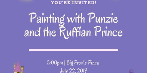 Painting with Punzie and the Ruffian Prince