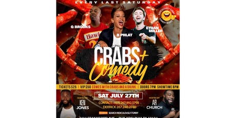 Ridiculously Funny  comedy series Crabs and Comedy tickets