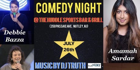 Comedy Night at The Huddle July  tickets