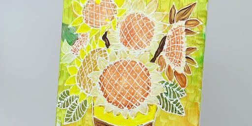 Beginner Art Painting-3D Painting Sunflower