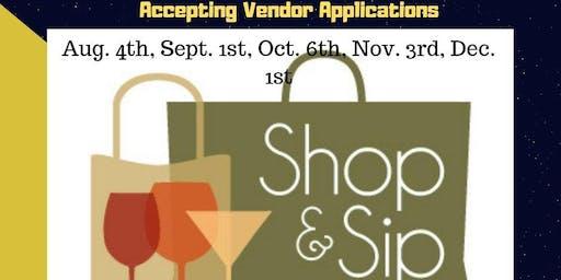 Shop & Sip Sunday Vendor Registration