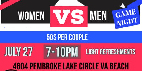 Men vs Women Game Night - COUPLES EVENT- Bring your partner to compete! tickets