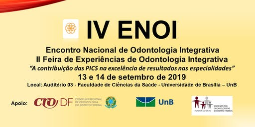 IV ENOI   -   Encontro Nacional de Odontologia Integrativa