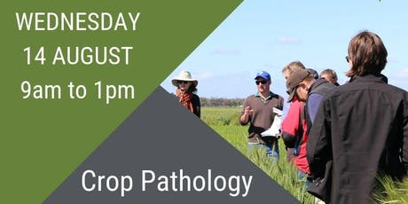 Crop Pathology Field Day in Horsham - Wednesday 14 August 9am to 1pm tickets