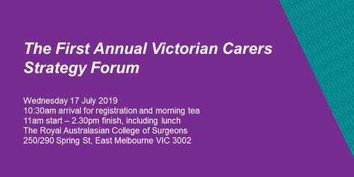 Victorian Carer Strategy 2018-22 first annual forum