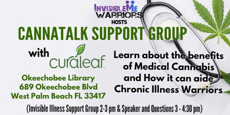 Cannatalk- Benefits of Medical Cannabis  and How it can aide Chronic Illnes tickets