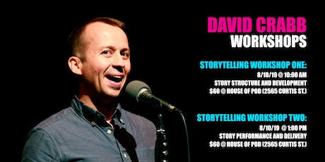 Storytelling Workshop with David Crabb tickets