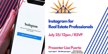 Instagram 102 for Real Estate Professionals tickets