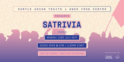 *SOLD OUT* SATrivia  x  HWKR