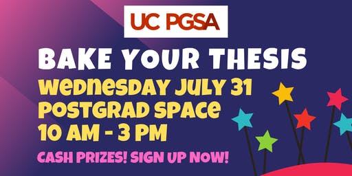 UC PGSA Bake Your Thesis 2019!