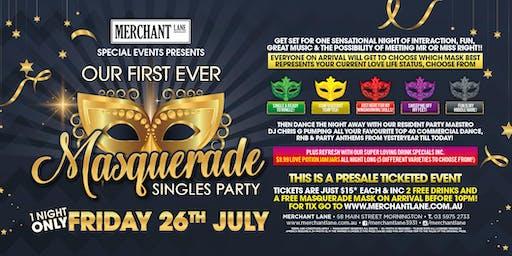Masquerade Singles Party at Merchant Lane!
