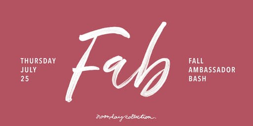 FAB 2019/ Fall Noonday Collection