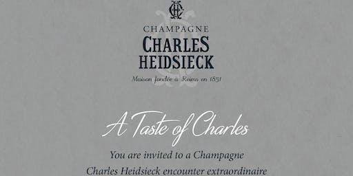 Charles Heidsieck Chapmagne Dinner W/ Ned Goodwin MW