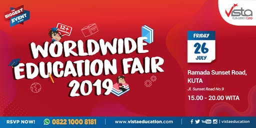 Worldwide Education Fair 2019 Denpasar - Ramada Bali Sunset Road