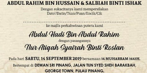 Perkahwinan Hadi & Atiqah