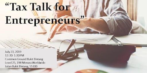 Tax Talk for Entrepreneurs
