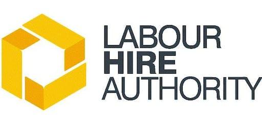 Information Session - Labour hire licensing scheme