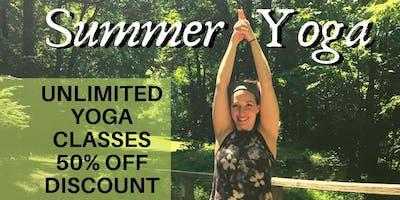 SUMMER YOGA SERIES- HALF OFF!