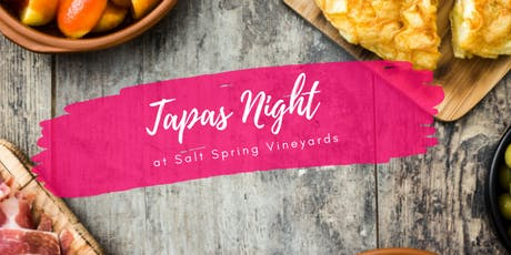 Tapas Night at the Vineyard tickets