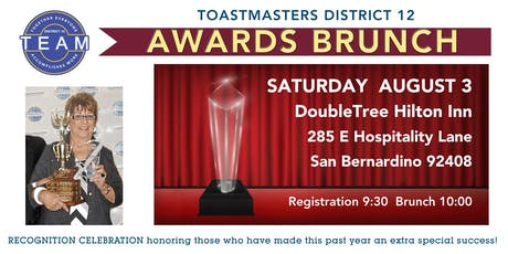 District 12 Awards Banquet tickets