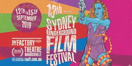 SYDNEY UNDERGROUND FILM FESTIVAL Program Reveal Party #13 tickets