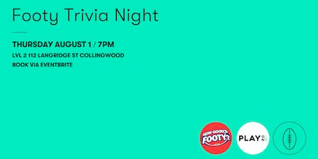 Play On Radio & How Good's Footy? Footy Trivia Night tickets