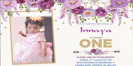 Inaaya's 'One-derland Party' tickets