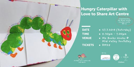 Hungry Caterpillar Arts and Crafts with Love to Share Arts Centre