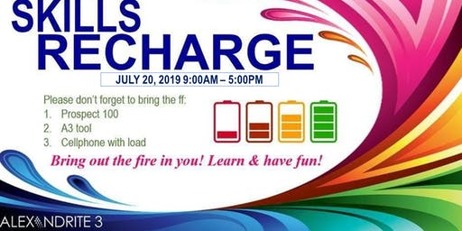 July 2019 Skills Recharge