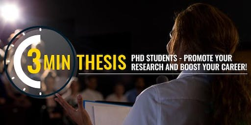 Three Minute Thesis (3MT®) Finals